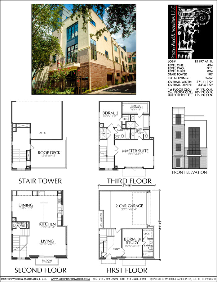 Townhouse Plan E1197 A1.1
