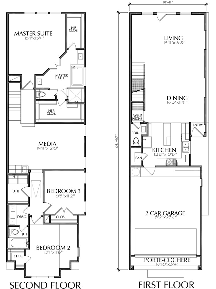 Townhouse Plan E3088 A2.1R