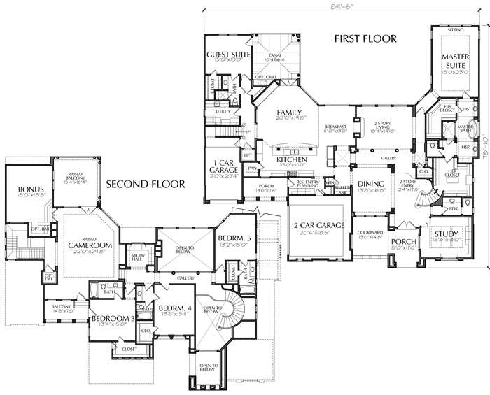 Two Story House Plan D4197