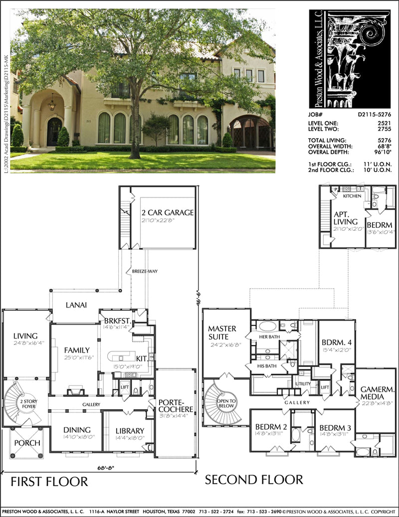 Two Story Home Design aD2115