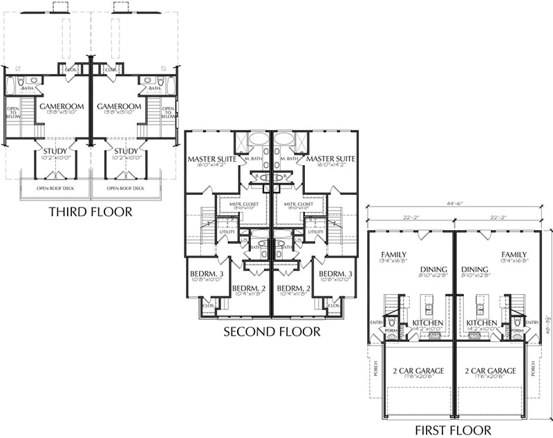Urban Townhouse Floor Plans: Urban Townhome Floor Plans, Town House Development, Row