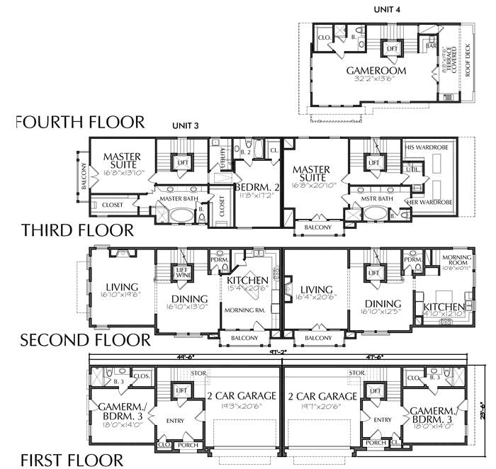 Duplex Townhouse Plan D5160 u3&u4