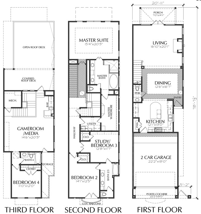 Townhouse Plan E1161 A2