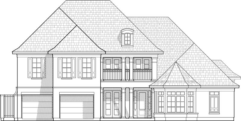 Two Story House Plan C7215