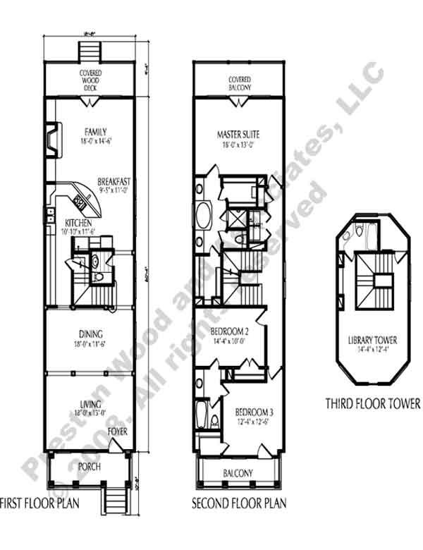 Townhouse Plan D0216 B