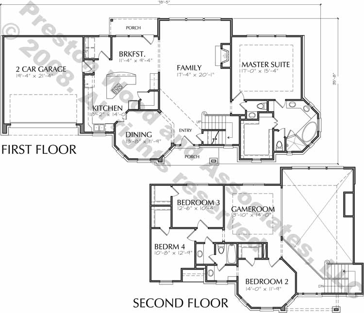 Two Story House Plan D3082