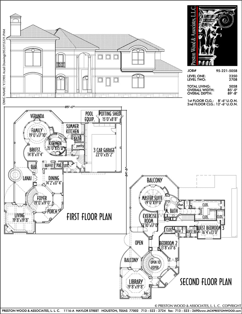 Two Story House Plan C5221