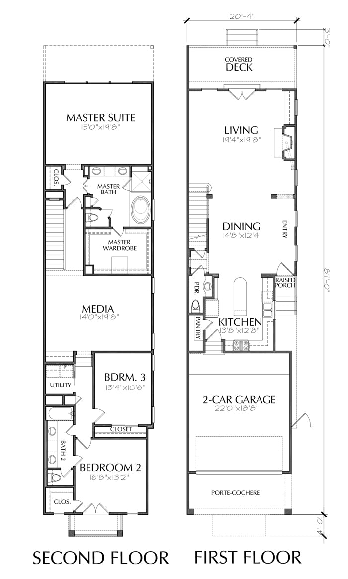 Townhouse Plan E1169 A1.2