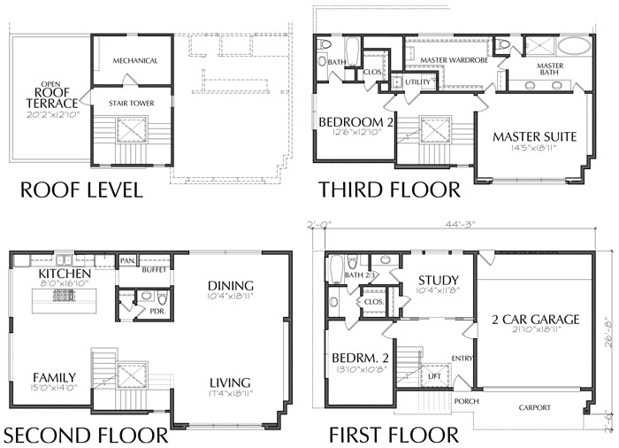 Townhouse Plan E0221 C
