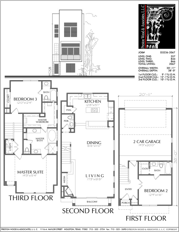 Townhouse Plan D3236-2067