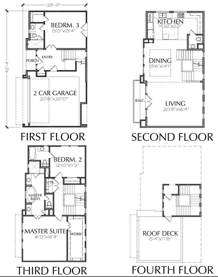 Townhouse Plan E2118 B1.1