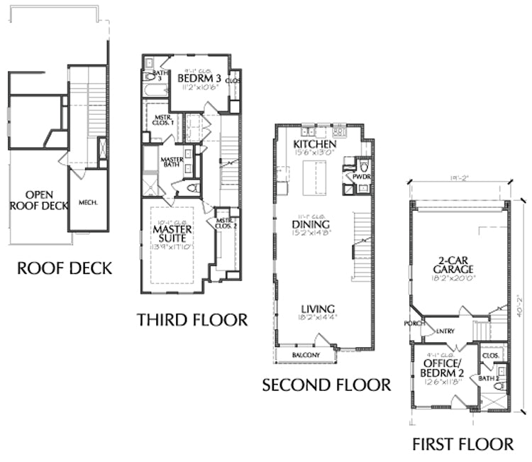Townhouse Plan E2246 C1.1