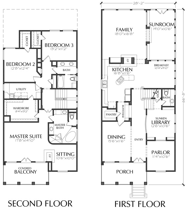 Urban House Plan C8120
