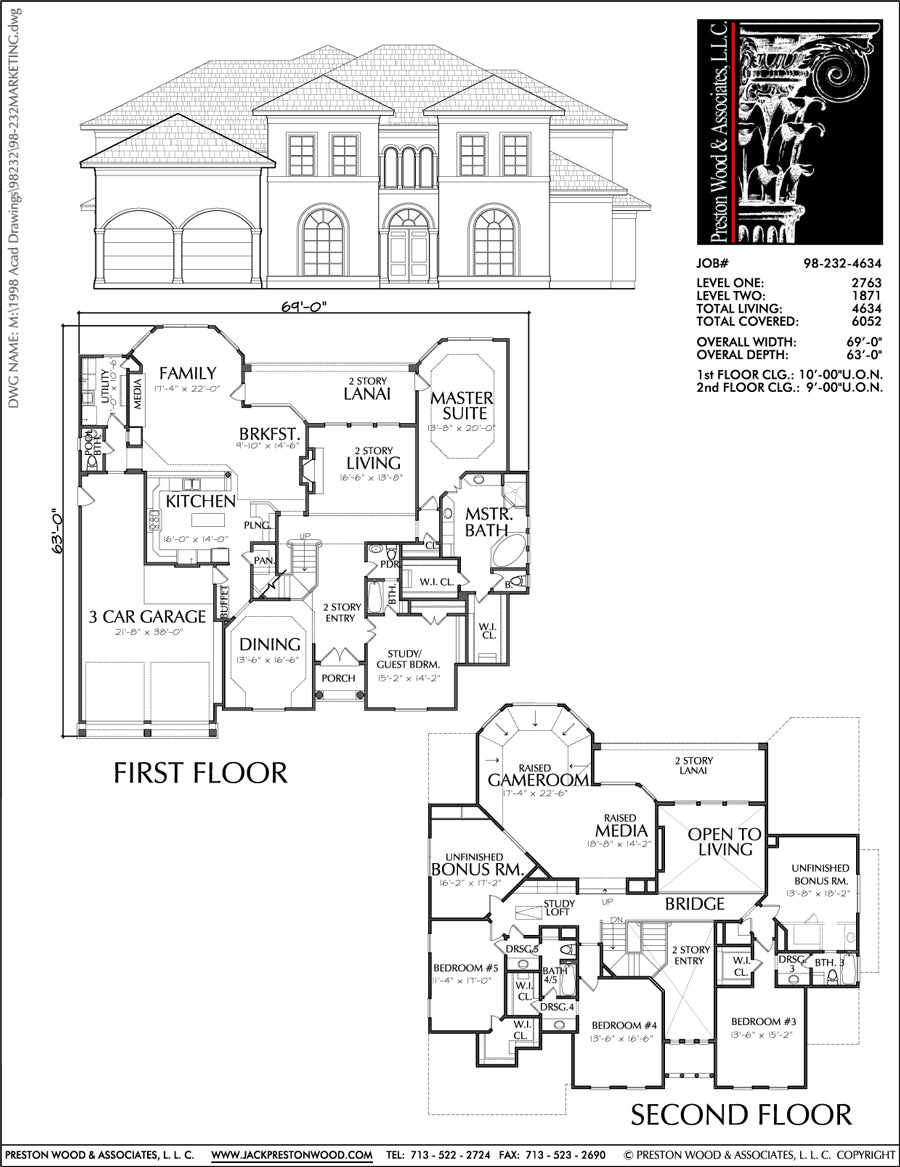 Residential House Plan, Two Story Housing Floor Plans ...