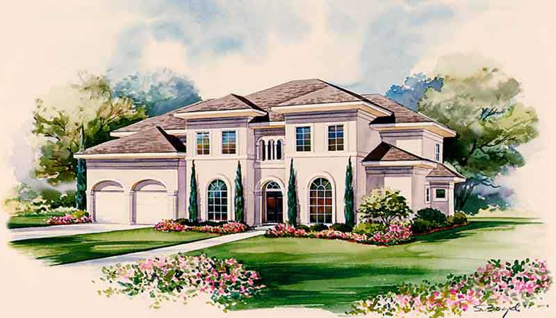 Two Story House Plan C7160