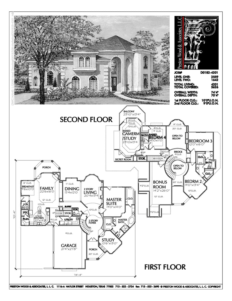 Two Story House Plan D0182