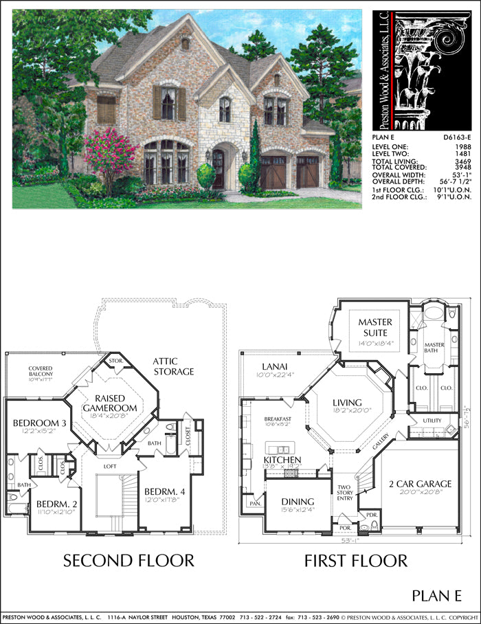 Patio Home Plan aD6163 E