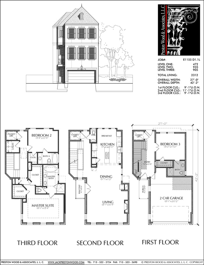 Townhouse Plan E1155 D1.1