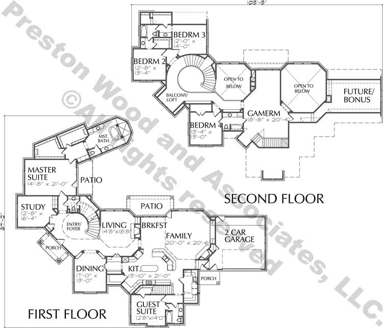 Two Story Home Design aD0153