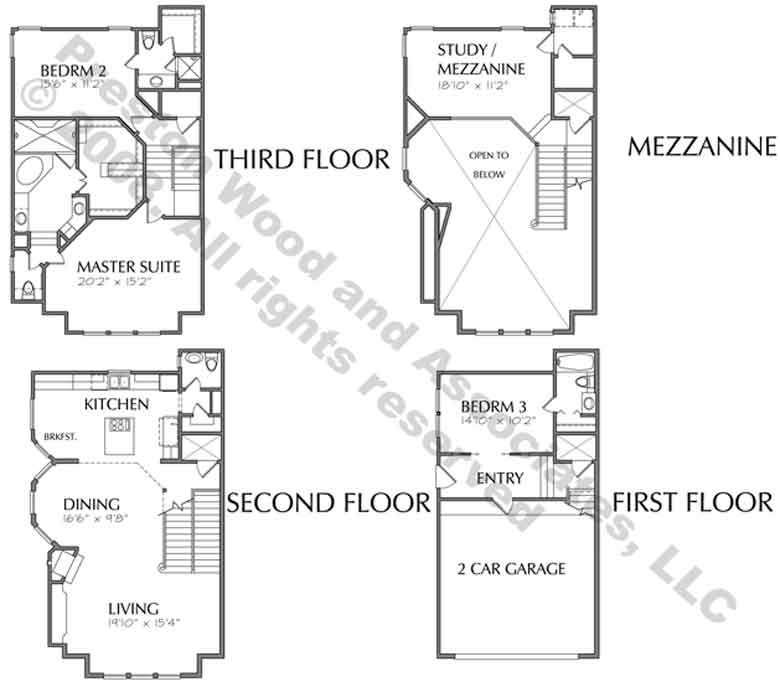 Duplex Townhome Plan C8242