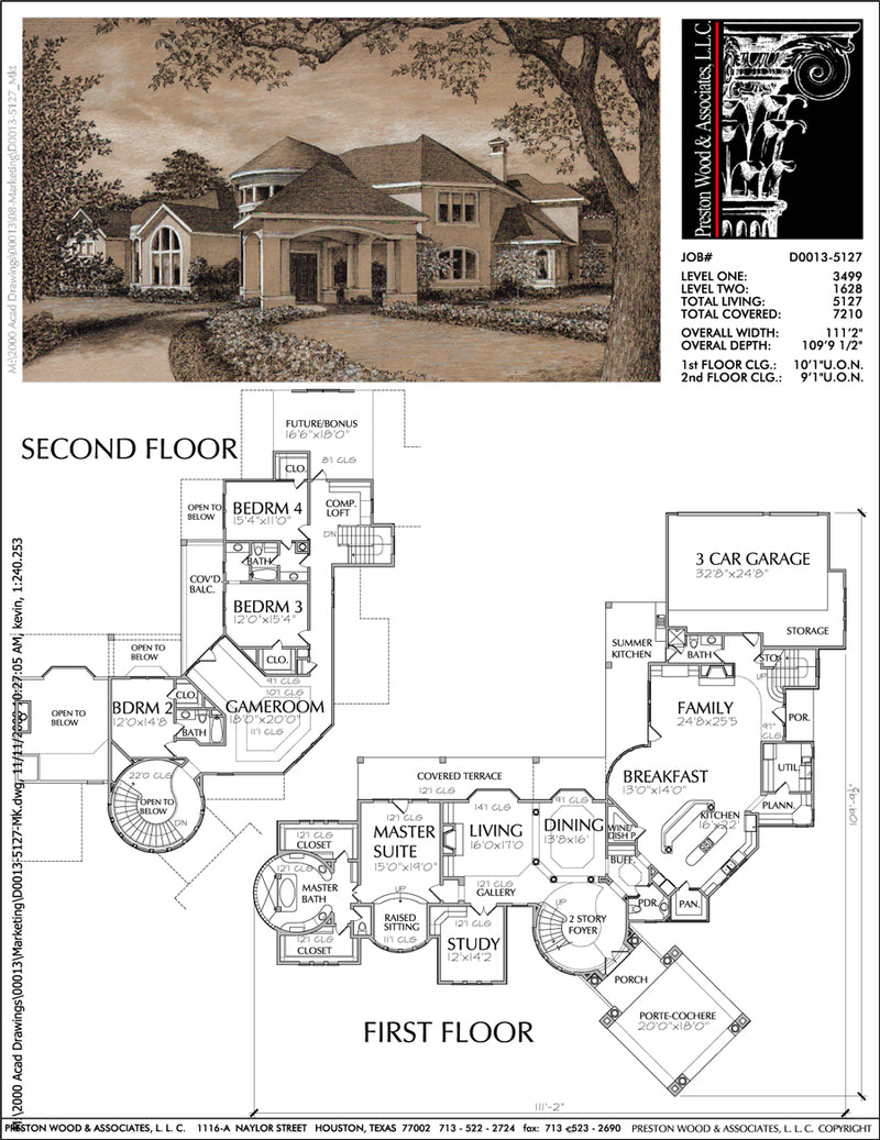 Two Story Home Plan D0013
