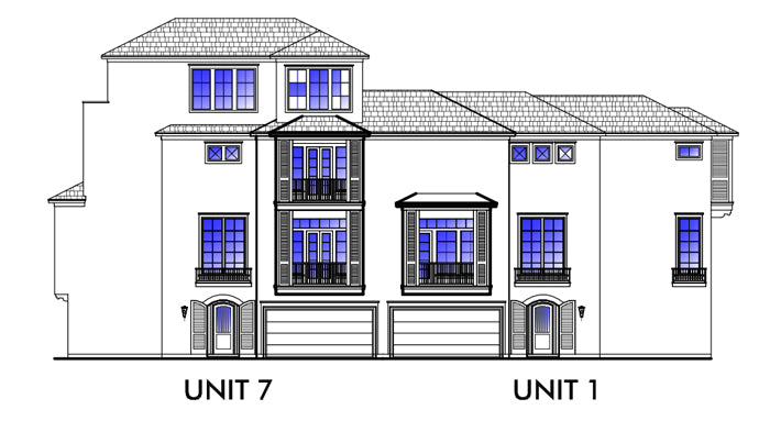 Duplex Townhouse Plan D5160 u1&u7