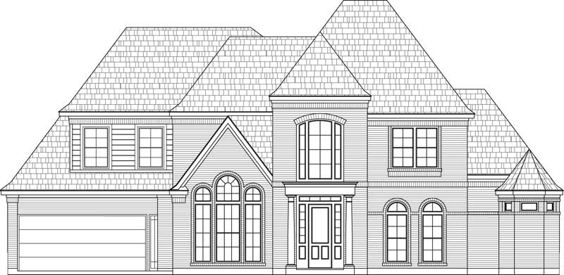 Two Story House Plan C7092