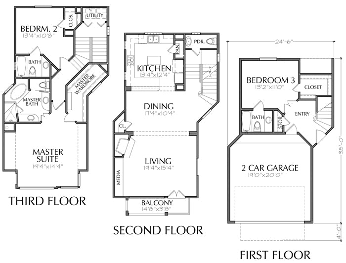 Townhouse Plan D3144-1972