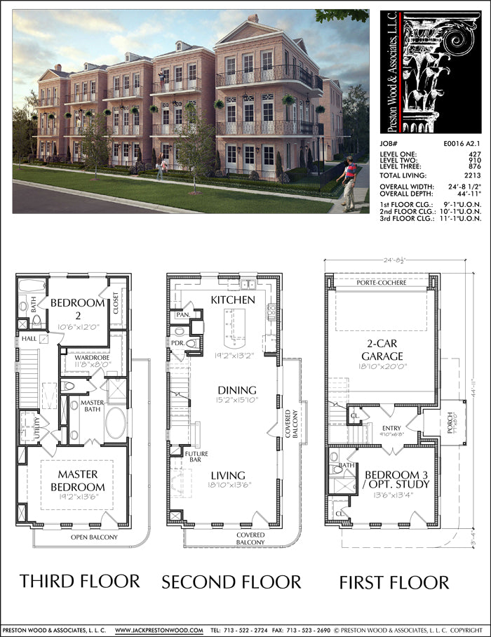 Townhouse Plan E0116 A2.1