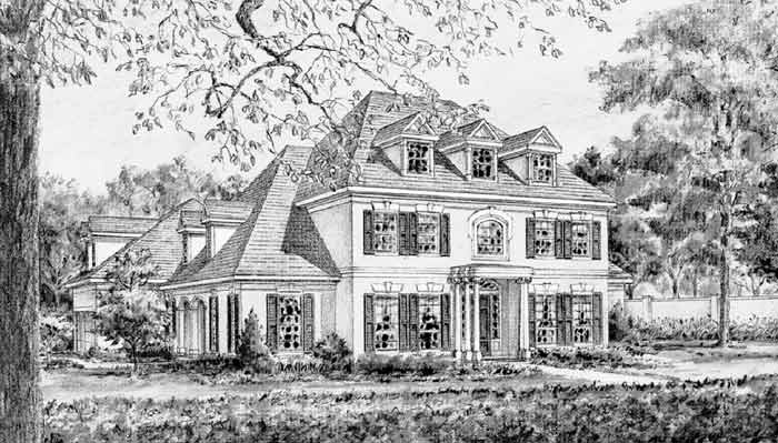 Colonial House Plan C5309