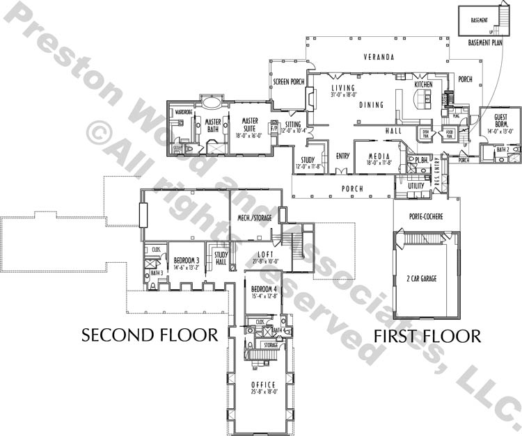Two Story House Plan C7272