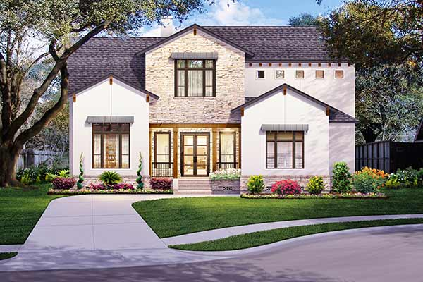 Two Story Home Plan E5093