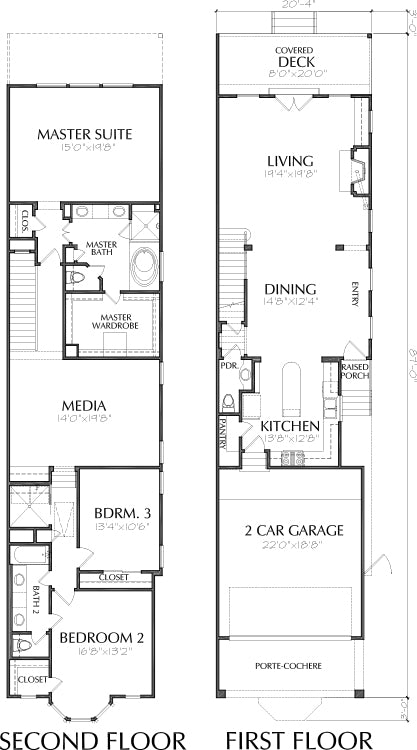 Townhouse Plan E1169 A1.1