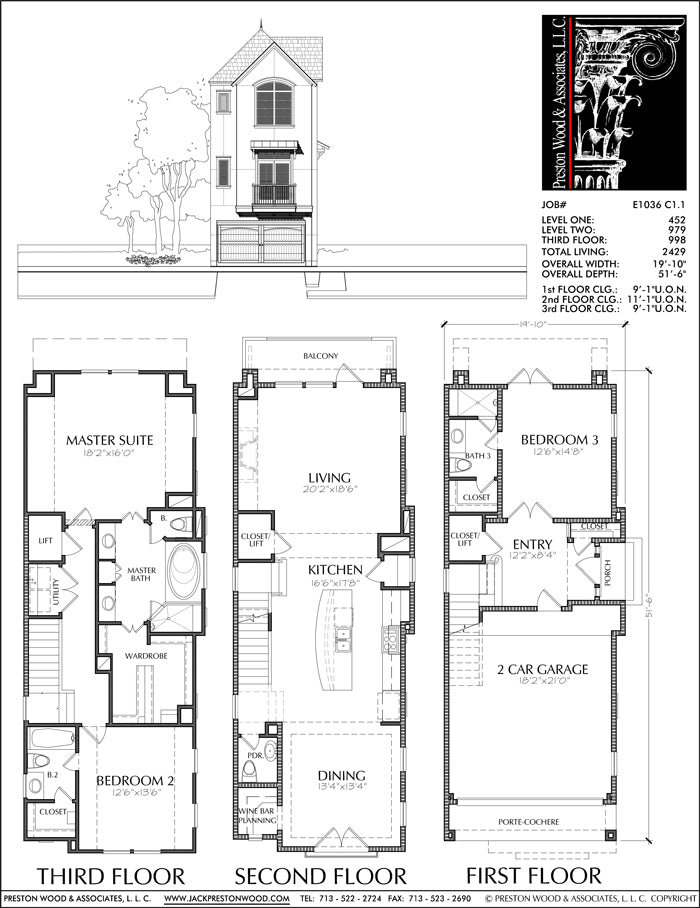 Townhouse Plan E1036 C1.1
