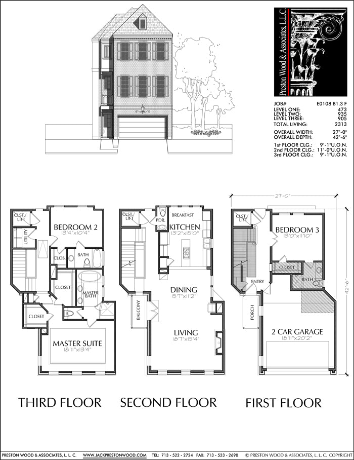 Townhouse Plan E0108 B1.3