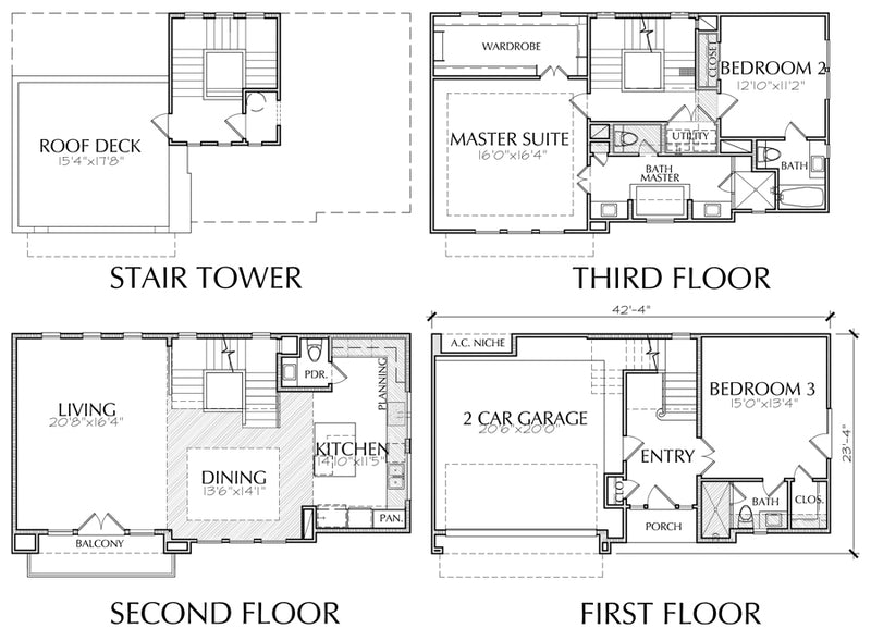 Townhouse Plan E5001 B1.1
