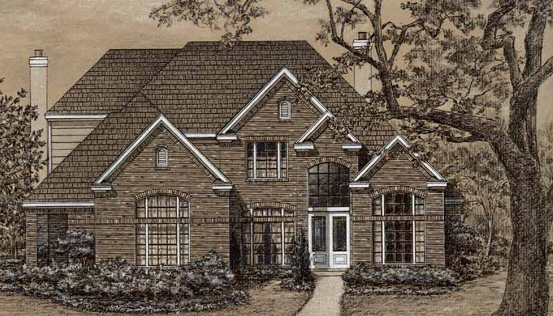 Two Story House Plan C7109