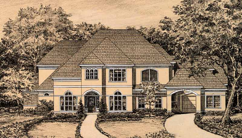 Two Story House Plan C5355