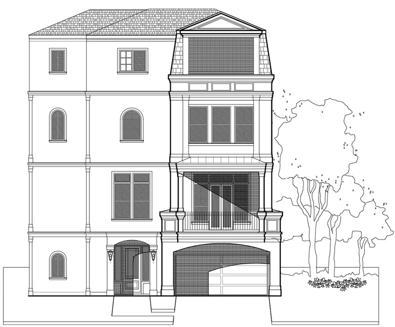 Townhouse Plan E5030 A1.1
