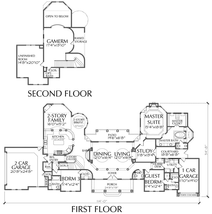 Two Story House Plan D6095