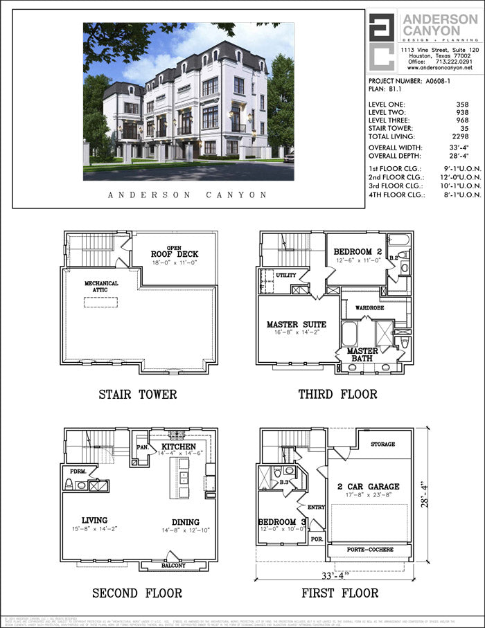 Townhouse Plan A0608 B1.1