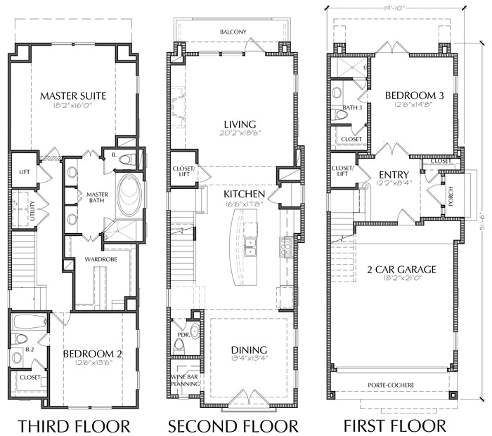 House Plans Duplex Plans Row Home: Townhomes, Townhouse Floor Plans, Urban Row House Plan