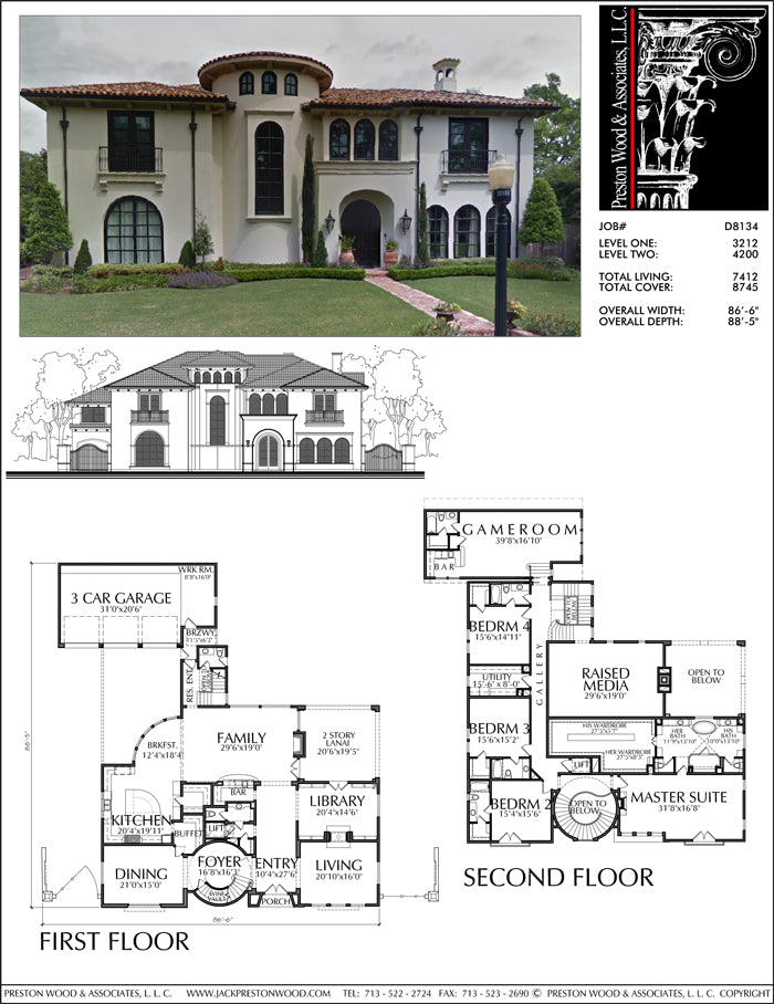 Two Story House Plan D8134