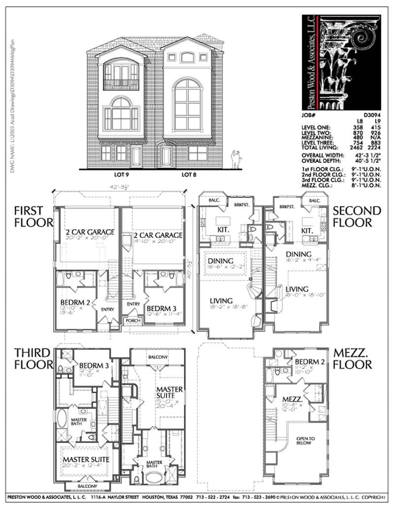 Unique town house plans floor plans for town homes townhouse designe preston wood associates