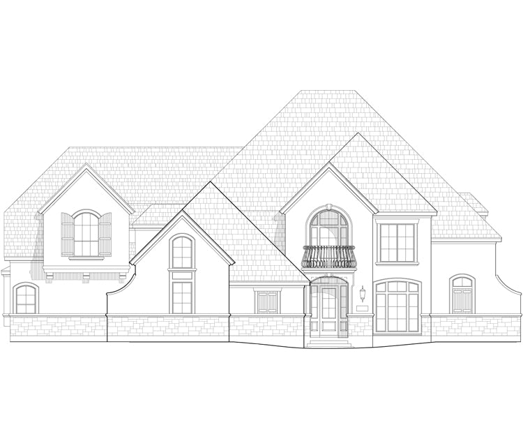 Two Story House Plan C5339