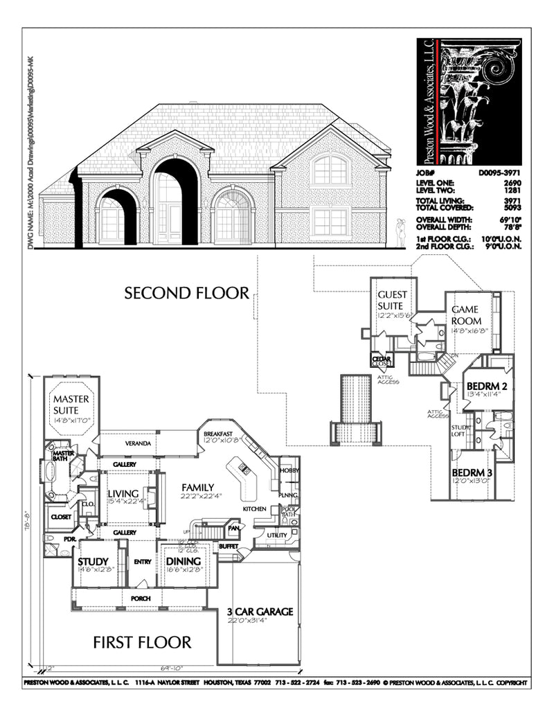 Two Story House Plan D0095