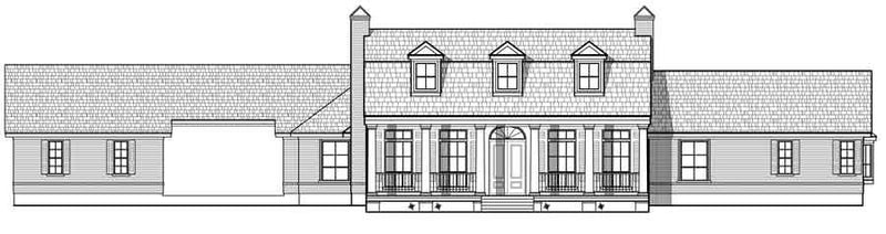 One Story House Plan C6107