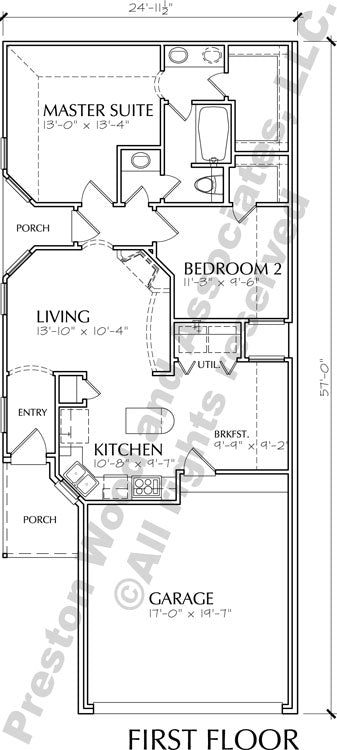 One Story Home Plan D1260