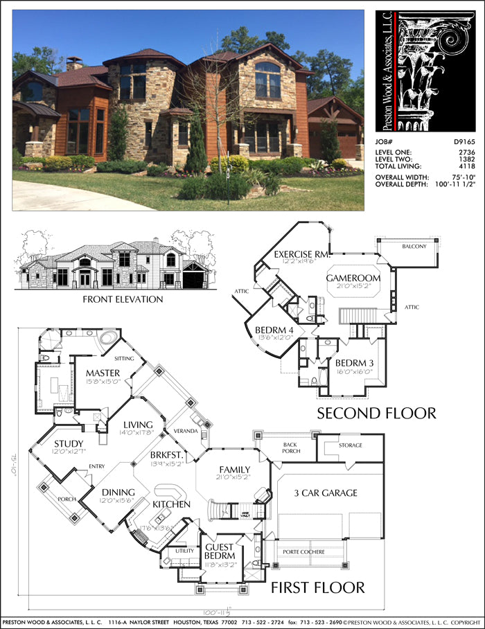 Two Story House Plan D9165