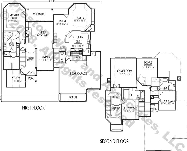Two Story House Plan D0016